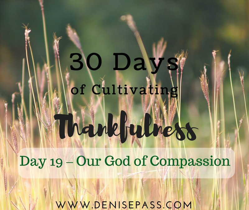 30 Days of Cultivating Thankfulness   Day 19 – Our God of Compassion