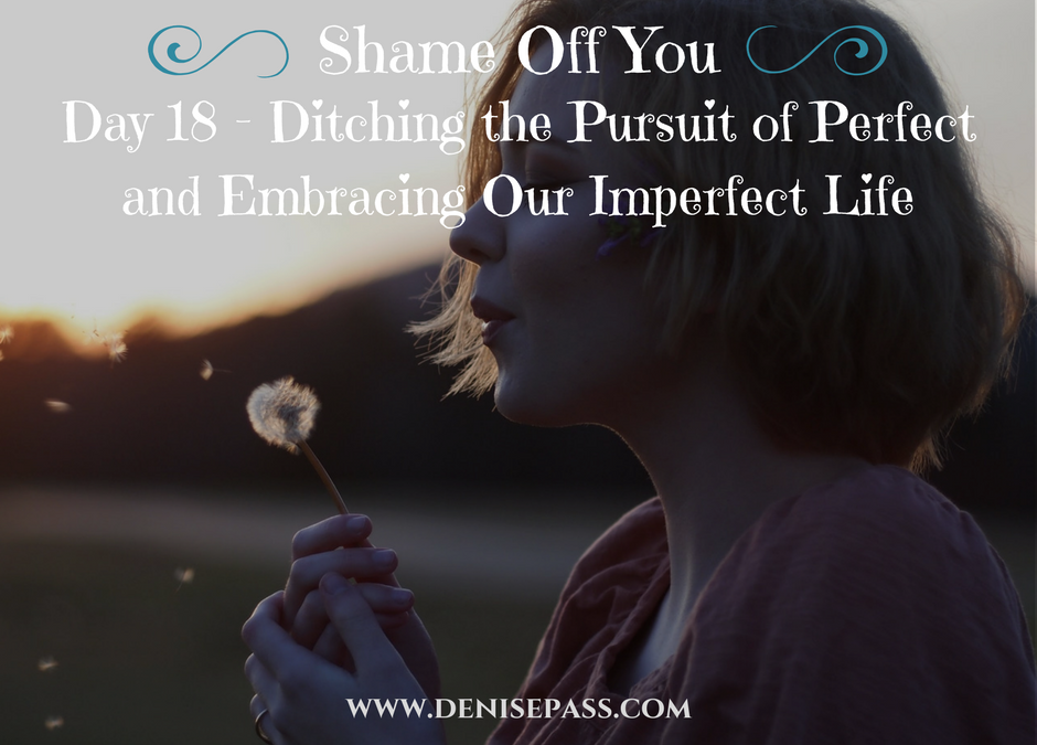 Day 18 – Ditching the Pursuit of Perfect and Embracing Our Imperfect Life