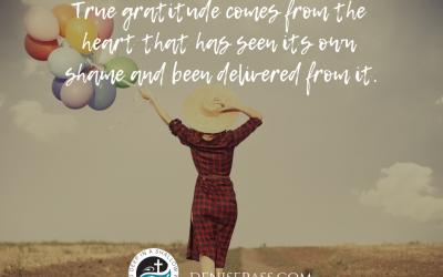Removing Shame with Gratitude
