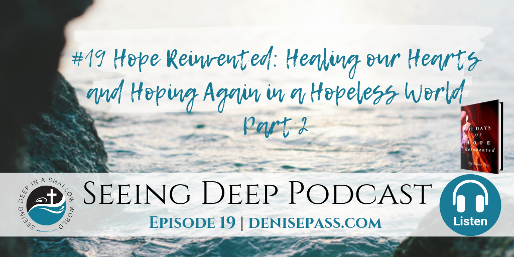 SD#19 Hope Reinvented: Healing our Hearts and Hoping Again in a Hopeless World, Part 2